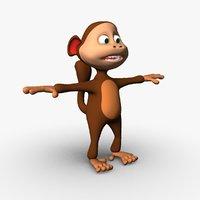 monkey cartoon 3D
