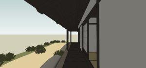 house tatami rooms 3D model