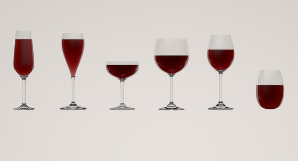 3D wine glasses model