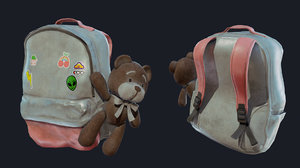 baggy bear bag 3D model
