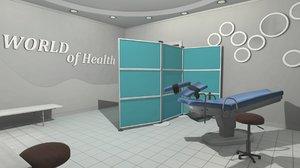 vr gynecologist s office model