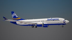 sunexpress 737 8 3D