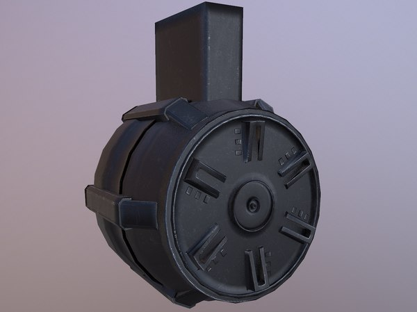 3D rifle drum magazine weapon