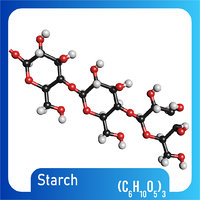 Starch Chain 3D Model (C6H10O5)3