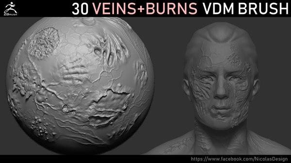veins burn brush vdm 3D model