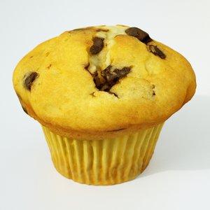 muffin cake dessert 3D model