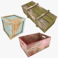 3D realistic wooden color 2