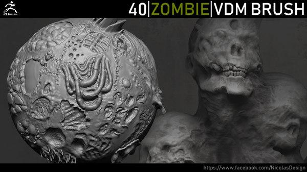 3D zombie brushes zbrush vdm