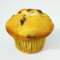 3D model muffin cake dessert