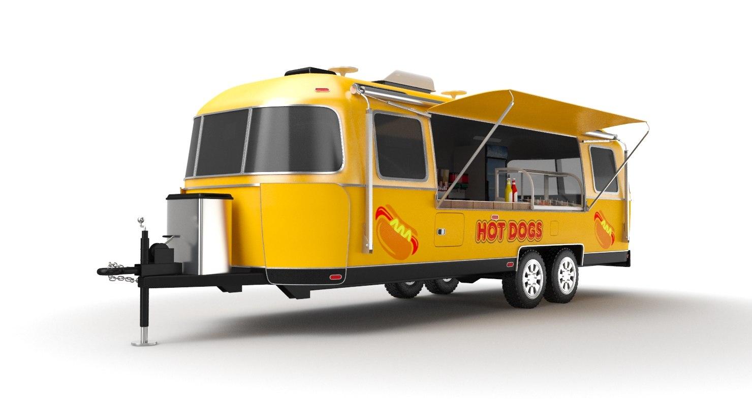 food airstream 3D model