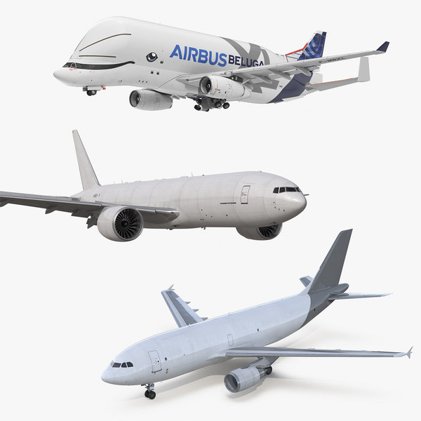 3D rigged cargo aircrafts air