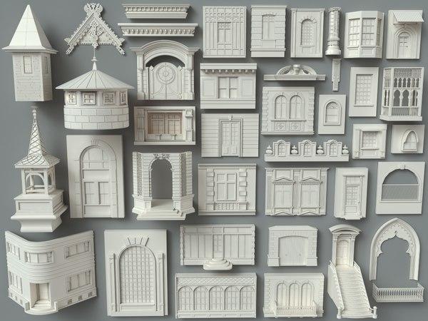 building facade 3D