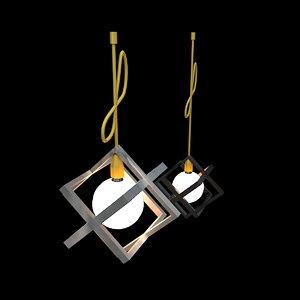 3D model lighting fixtures