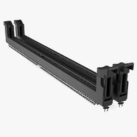 3D ddr4 dimm memory slot