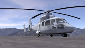 3D model eurocopter hh-65 dolphin
