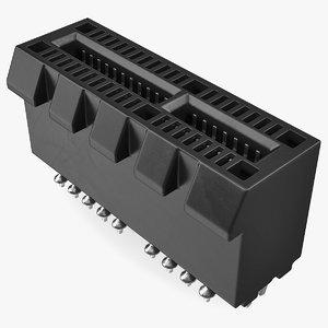 pci express connector 3D model