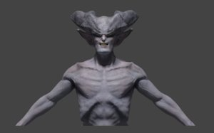 demonic character 3D model