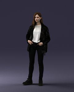 3D model fashion girl