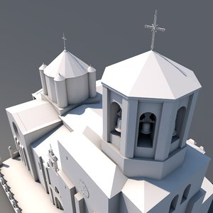 collegiate church santa mara 3D model