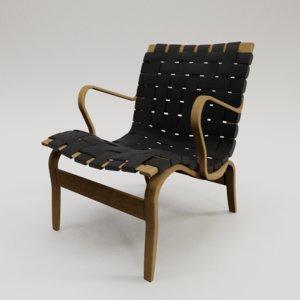 eva chair bruno mathsson 3D