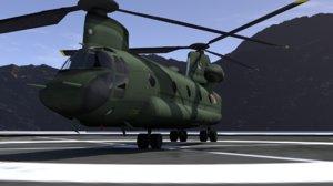 chinhook transport helicopter model