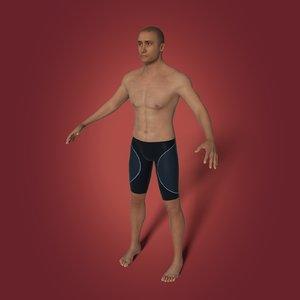 swimmer swim arab 3D model