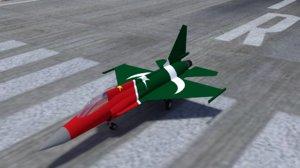 jf-17 jet 3D model