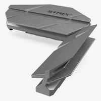 power radiators motherboard board 3D model