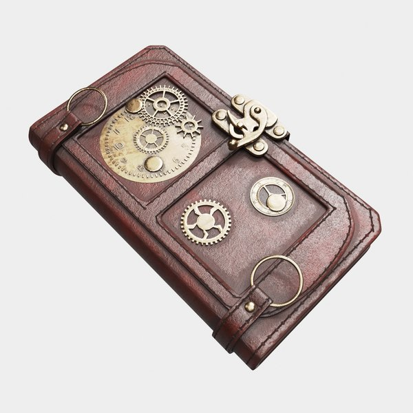 steampunk book 3D
