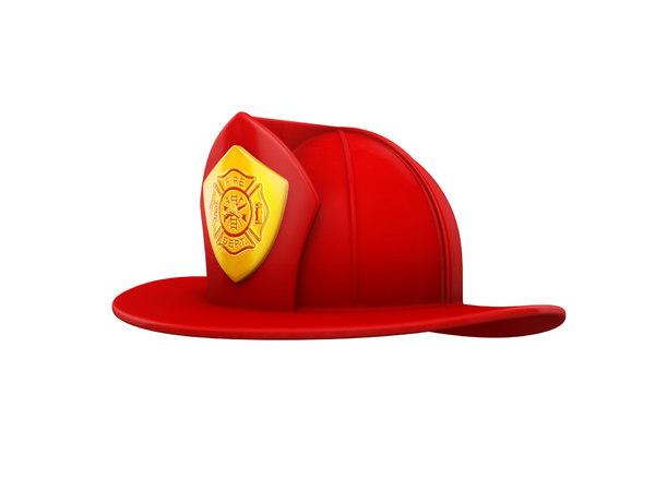 3D model firefighter helmet