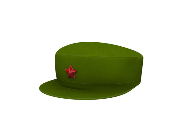 3D chinese army cap model
