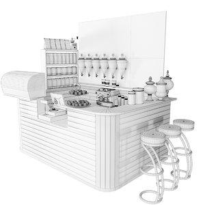 3D cafe shop