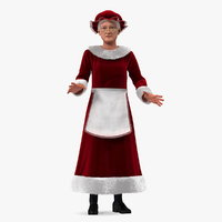 mrs claus rigged 3D