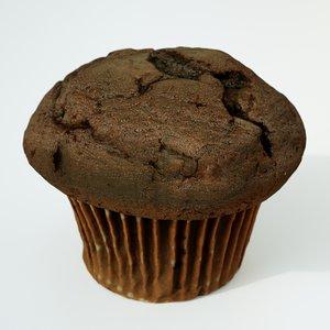 3D muffin cake dessert model