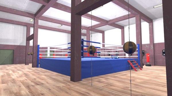 3D model vr boxing hall -