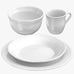 classical tableware 3D model