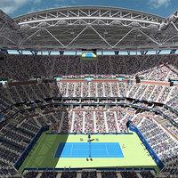 arthur ashe stadium 3D