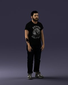 3D t hipster model