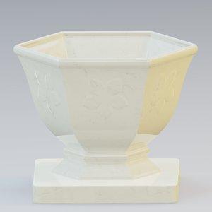 3D model urn marble concrete