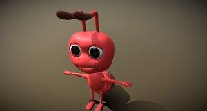 ant cartoon 3D model
