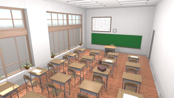 vr japan classroom - 3D model