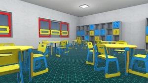 3D model vr kindergarten - interior room