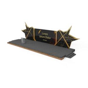 stage backdrop rostrum 3D model