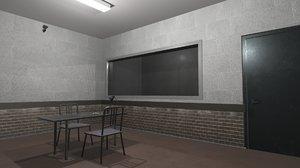 vr interrogation room - 3D model