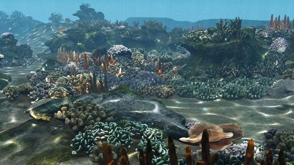 cartoon underwater v3 animation 3D model