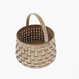 3D model wicker basket