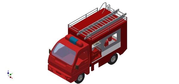 mini firecar 3D model