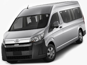 3D toyota hiace commuter model