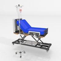 hospital iv drop stand 3D model