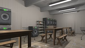 vr laundry - interior 3D